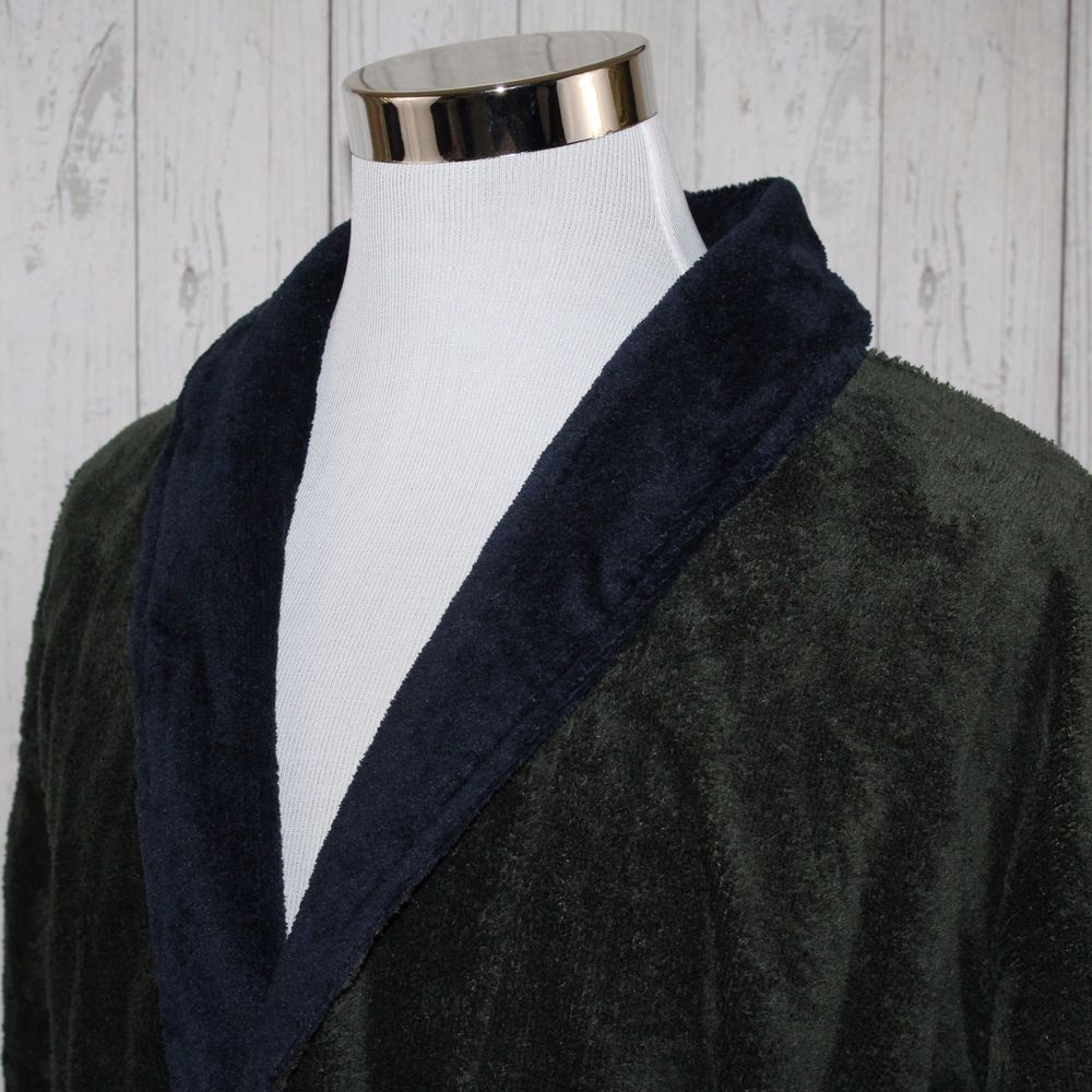 a87445b4cd Nautica Green Blue One Size Fits All Thick Chenille Terry Plush Belted  Bathrobe  Nautica  Robes