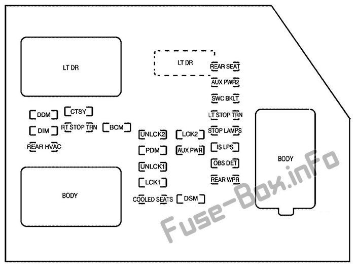 2007 chevy avalanche fuse box diagram pin on cadillac escalade  gmt 900  2007 2014  fuses and relays  pin on cadillac escalade  gmt 900  2007