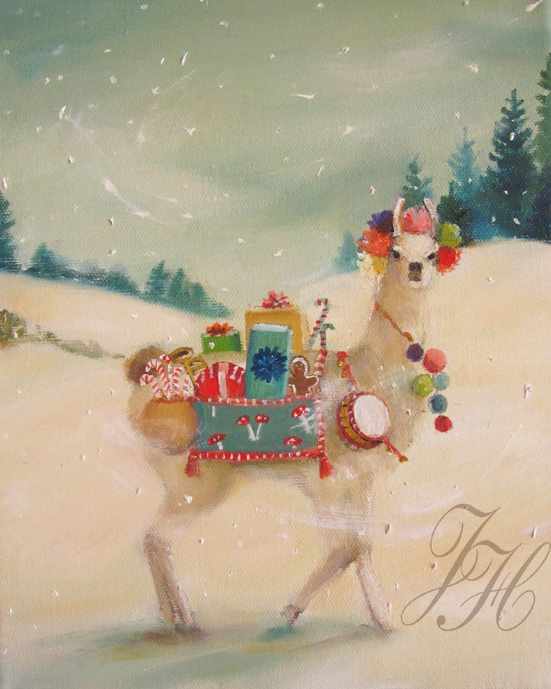 The Northern Christmas Llama Was Elusive But Generous In Nature ...