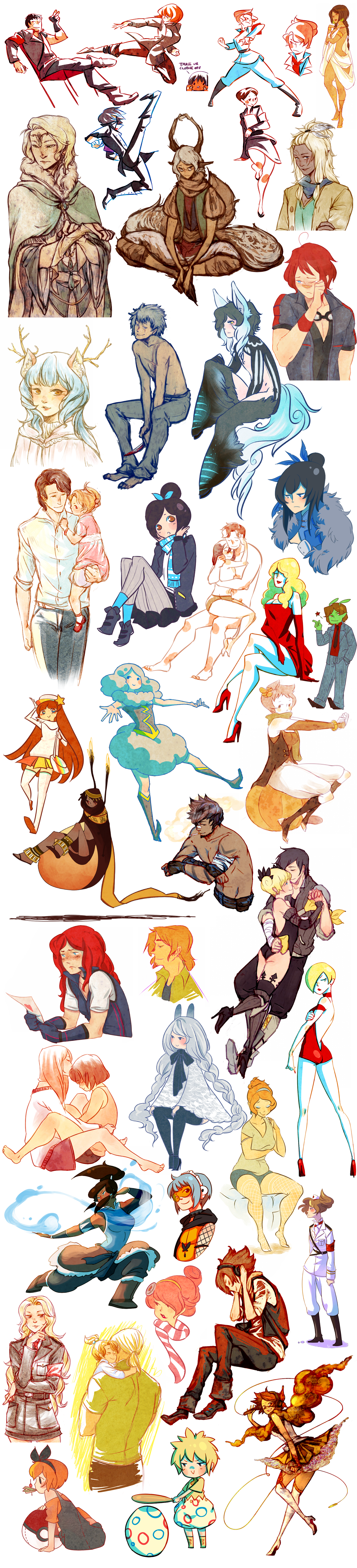 another sketch dump by =fishnbacon on deviantART