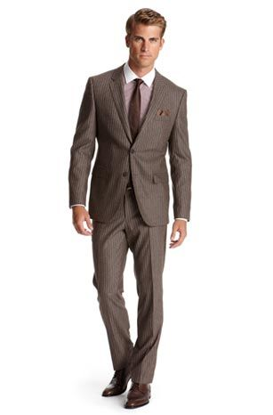 d271d214bcae Dark Beige Hugo Boss Suit