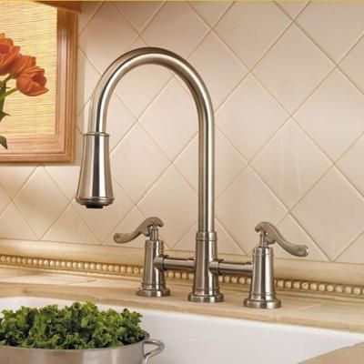 Pfister Ashfield 2 Handle Pull Down Sprayer Kitchen Faucet In Brushed Nickel Lg531 Ypk The Home Depot In 2021 Kitchen Faucet Faucet Ashfield 2 handle kitchen faucet with pull down sprayer