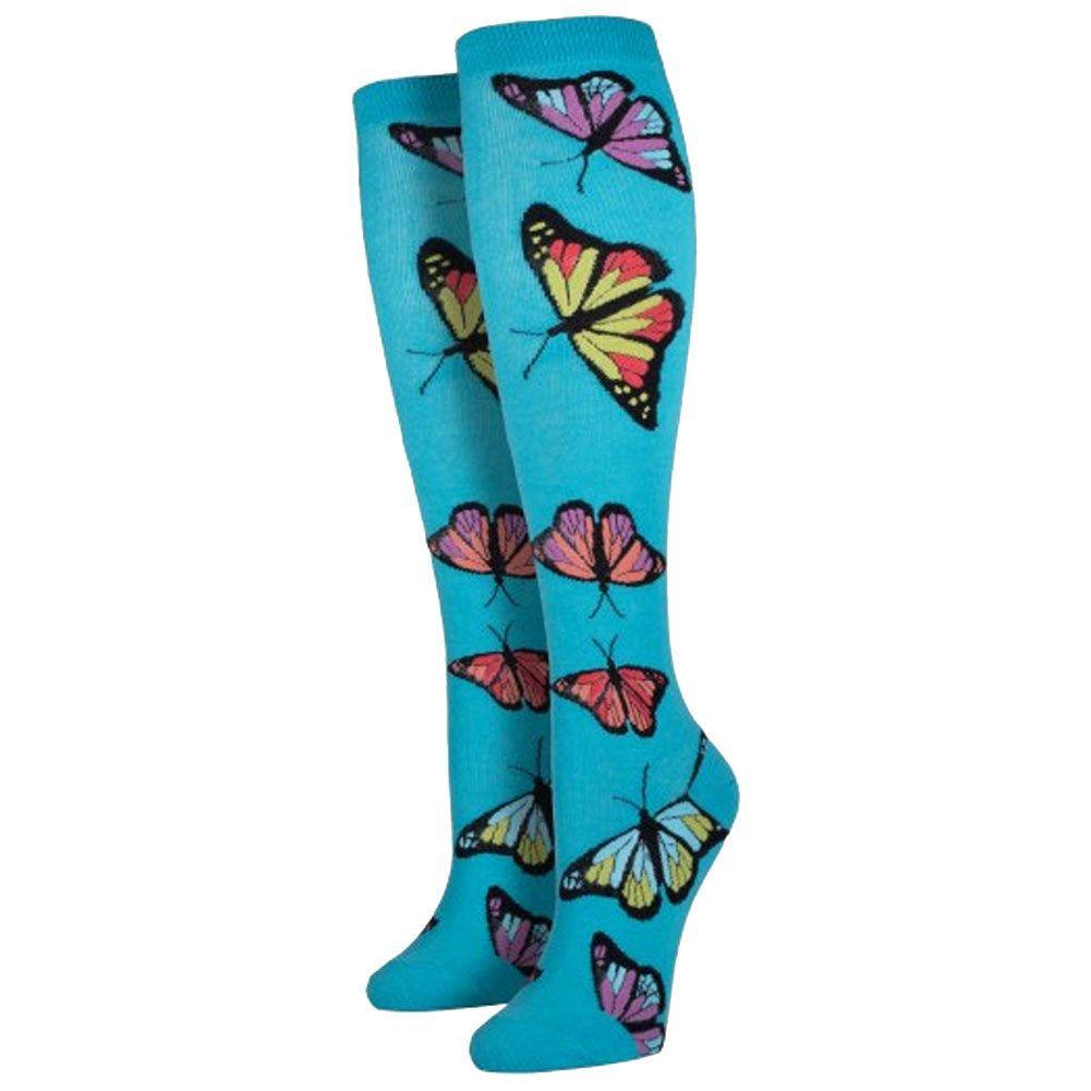 Purple Leopard Boutique - Women's Knee High Socks Butterfly Bermuda Blue, $13.50 (http://www.purpleleopardboutique.com/womens-knee-high-socks-butterfly-bermuda-blue/)