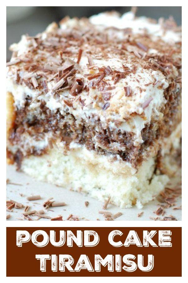 Pound Cake Tiramisu -   16 desserts Fancy cake ideas