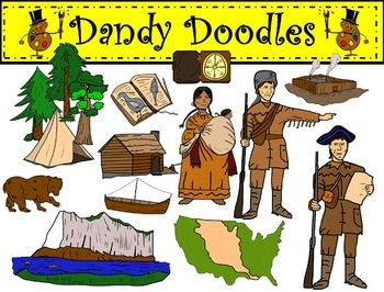 lewis and clark clip art by dandy doodles clipart teachers pay rh pinterest com Lewis and Clark Expedition PowerPoint Lewis and Clark Expedition PowerPoint
