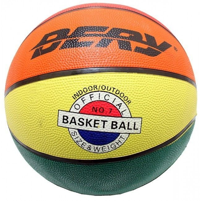 Official Size   Weight Durable Rubber Basket Ball  Bright Multi-Color  Rainbow   134ad1899c