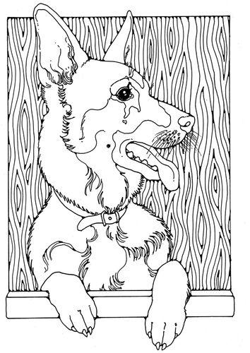 Coloring Page German Shepherd Img 28208 Dog Coloring Book Dog Coloring Page Animal Coloring Pages