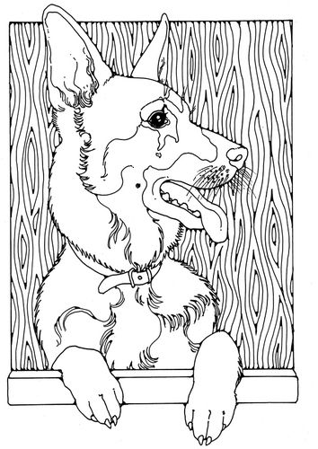 Coloring Page German Shepherd Dog Coloring Page Dog Coloring