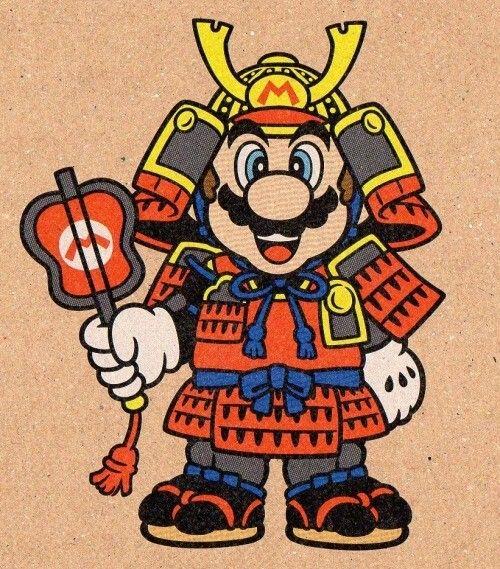 Mario Samurai by mr  Shoryuken   Nintendo   Super mario