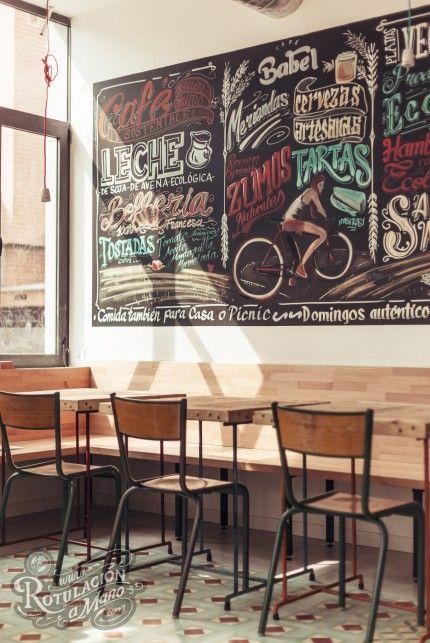 cafe babel torrelodones rotulacion a mano graffiti pizarra 4 ... a95c35ad8f7