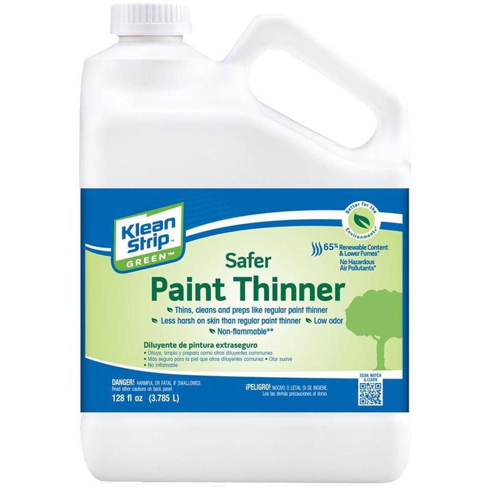 Klean Strip 1 Gal Green Safer Paint Thinner Mineral Spirits Paint Thinner Stripping Paint
