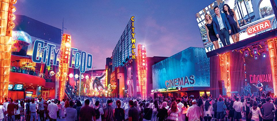 Citywalk Overview Universal Studios Hollywood Universal City Walk Universal Studios