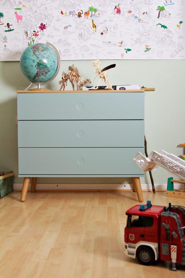 Kinderzimmer Makeover mit Wayfair mintfarbene Kommode mit