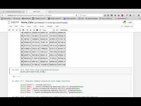 Python | Monte Carlo | Simulation | Python Pandas and Data Analysis