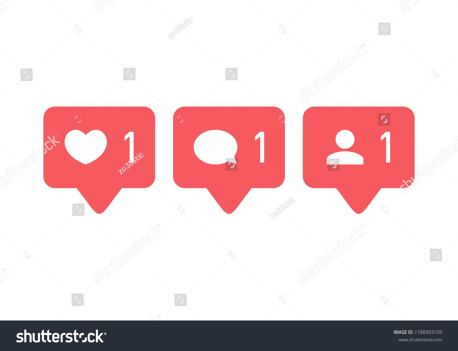 like icon vector comment icon vector follower icon vector social media social network instagram notification icon fo vector like icon royalty free photos icon vector follower icon vector