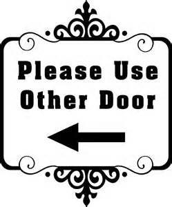 Use Back Door Sign Bing Images Crafts Door Signs Signs Vinyl