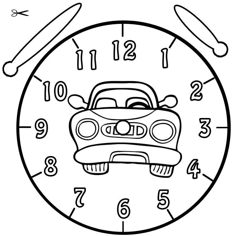Uhr Ausmalbild 02 Ich