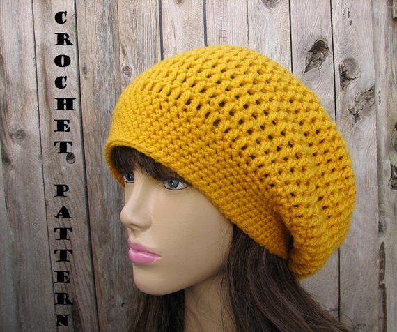 CROCHET PATTERN- Slouchy Hat 9350d68d7