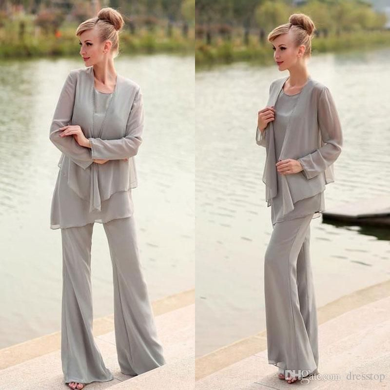Hot mother of the bride pant suit for weddings long sleeve for Women s dress pant suits for weddings