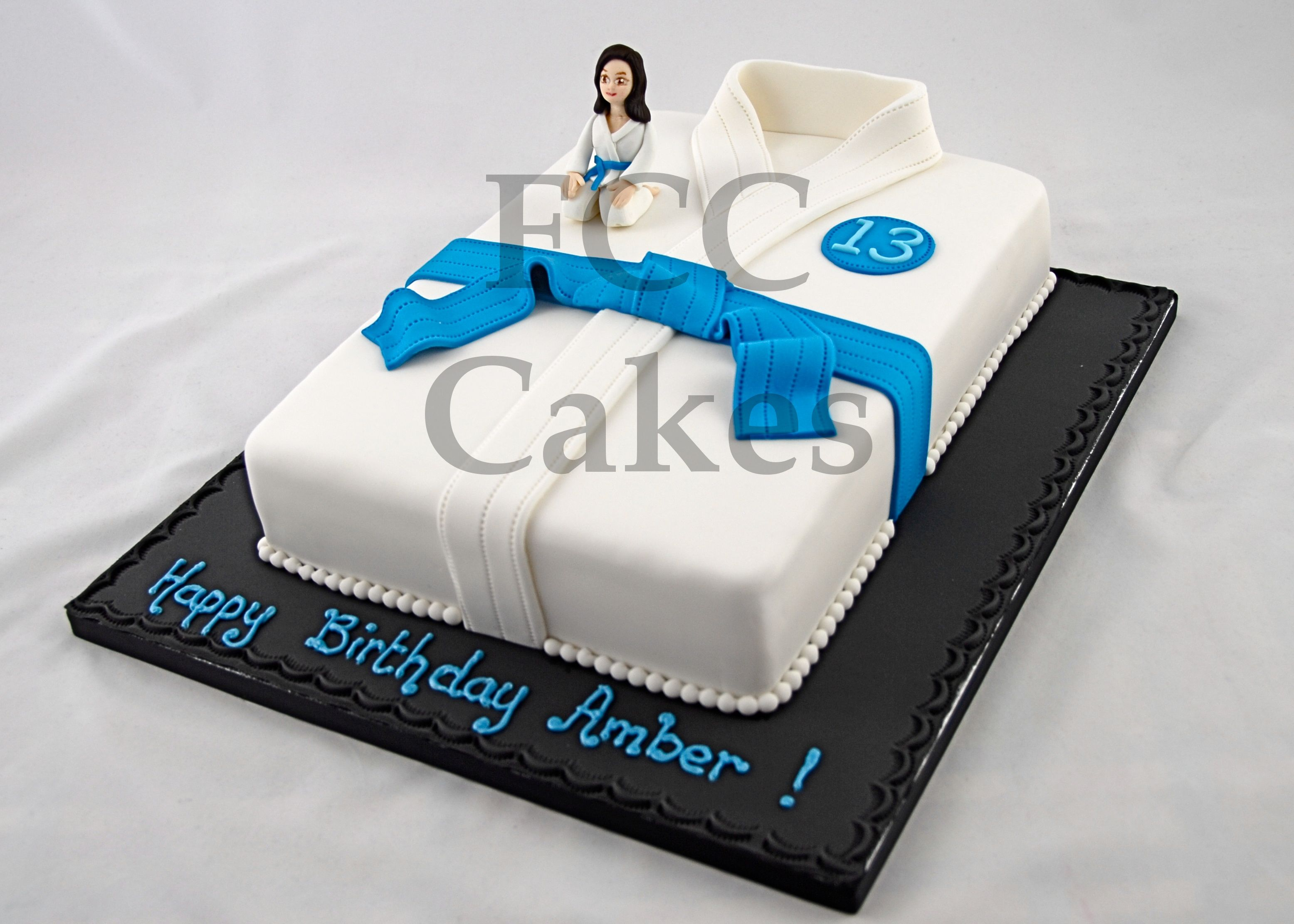 decoration gateau judo