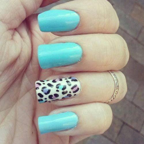 Cute nail design .....love the cheetah print !!! | Nail ...