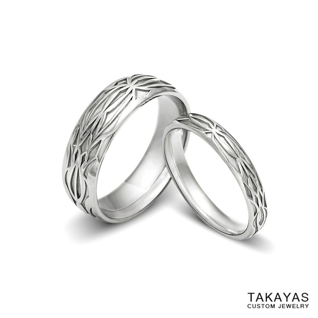 ring custom platinum his and her diablo 3 inspired wedding