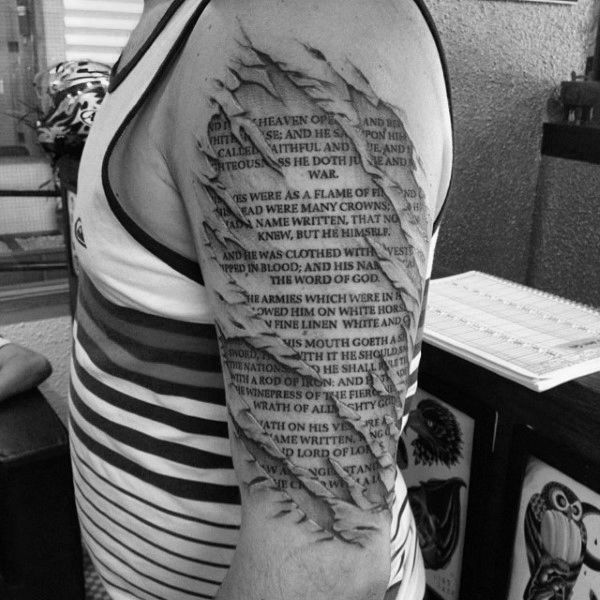 1ffd54996 50 Bible Verse Tattoos For Men - Scripture Design Ideas | Tattoos ...