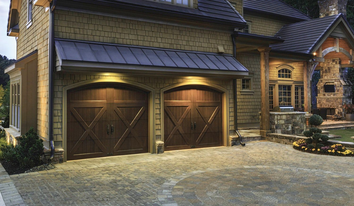 14 Curb Appeal Tips From The Brick Batten Pros Blog Brick Batten In 2020 Garage Door Design Carriage House Garage Doors Garage Doors