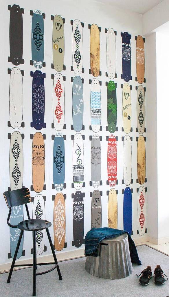 onszelf papel pintado skateboards oz 3176 300x200cm. Black Bedroom Furniture Sets. Home Design Ideas