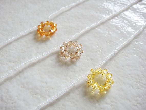 """White and Yellow Gold Bubble Crystal Pendant Delicate Necklace   Length - 40cm (around 15.7"""")   $10.00 USD"""