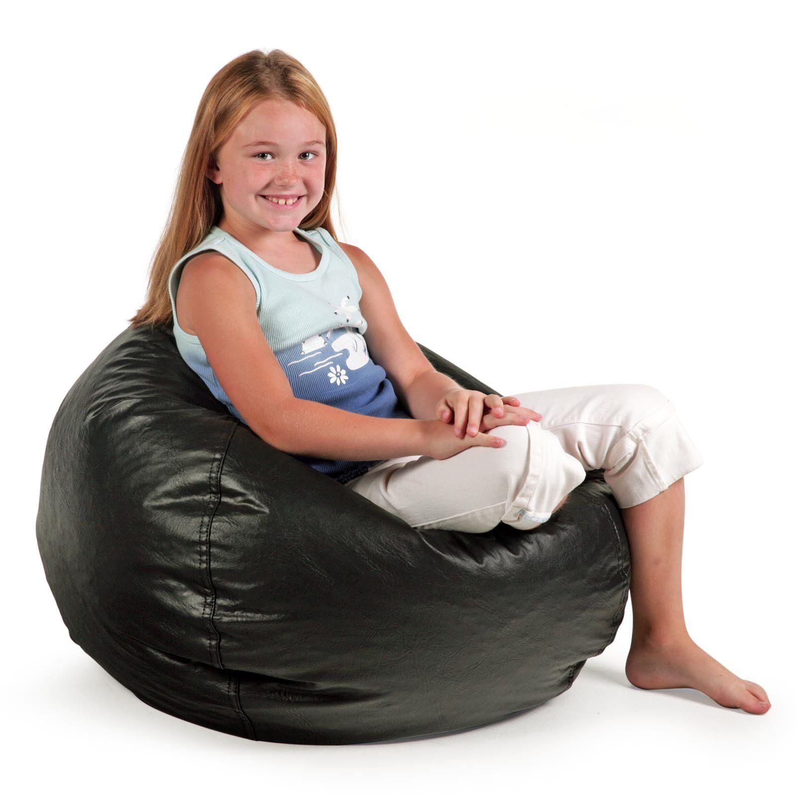 Small Standard Vinyl Bean Bag Chair from