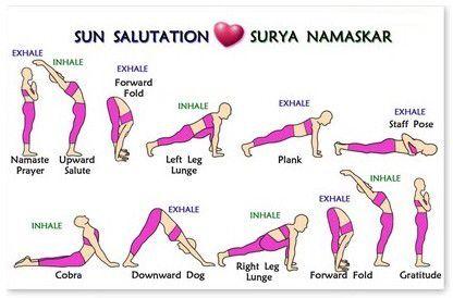 sun ☀️ salutations  yoga sun salutation surya namaskar