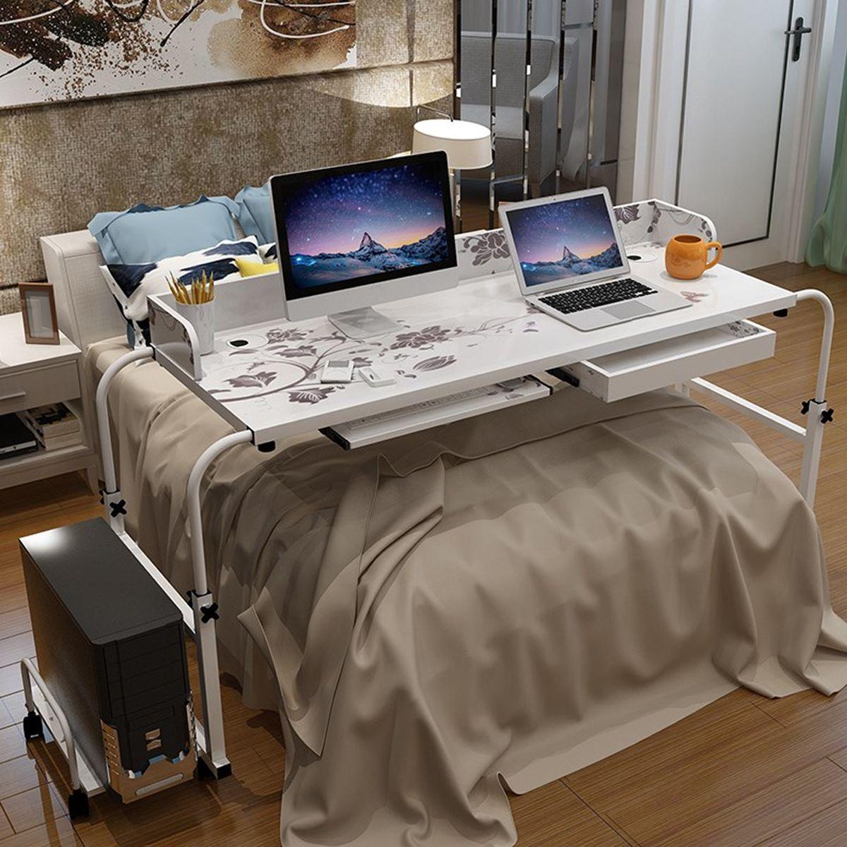 Cheap 1 2 M Home Rolling Ajustable Ordenador Escritorio Mesa Sobre
