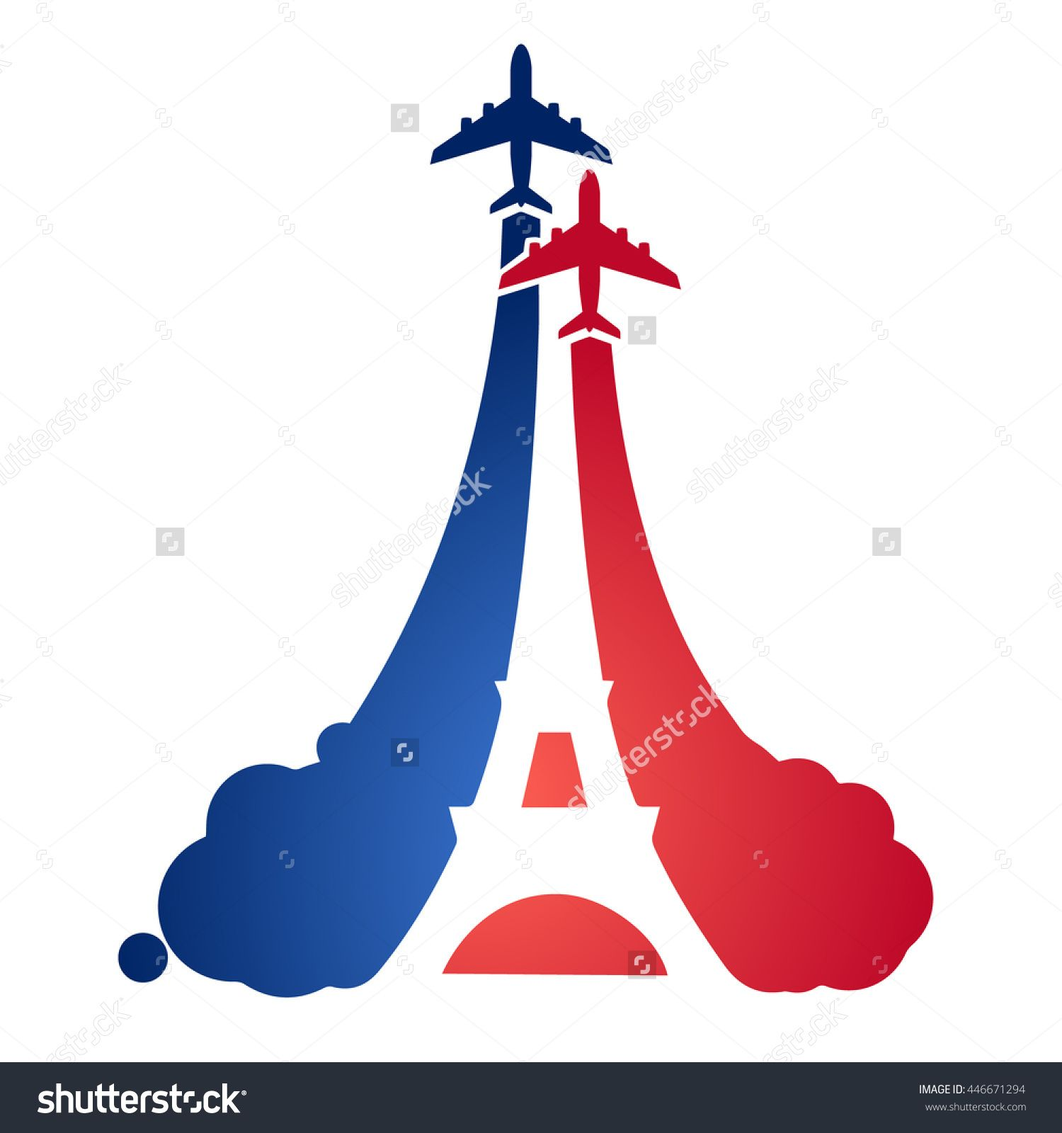 Logo as a tourist flying aircraft with a silhouette of the eiffel logo as a tourist flying aircraft with a silhouette of the eiffel tower and the symbolism of the french flag symbols and air travel in france buycottarizona Gallery