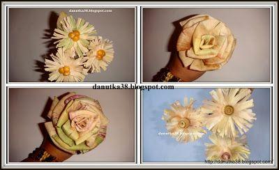 Jak Zrobic Kwiaty Z Lisci Kukurydzy Kursiki Paper Flowers Crafts Flowers