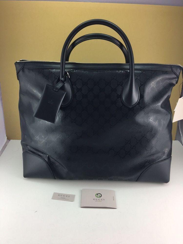 457dbfbf GUCCI Men Dark Blue GG imprimé Carry On Travel Bag NWT #Gucci   bag ...