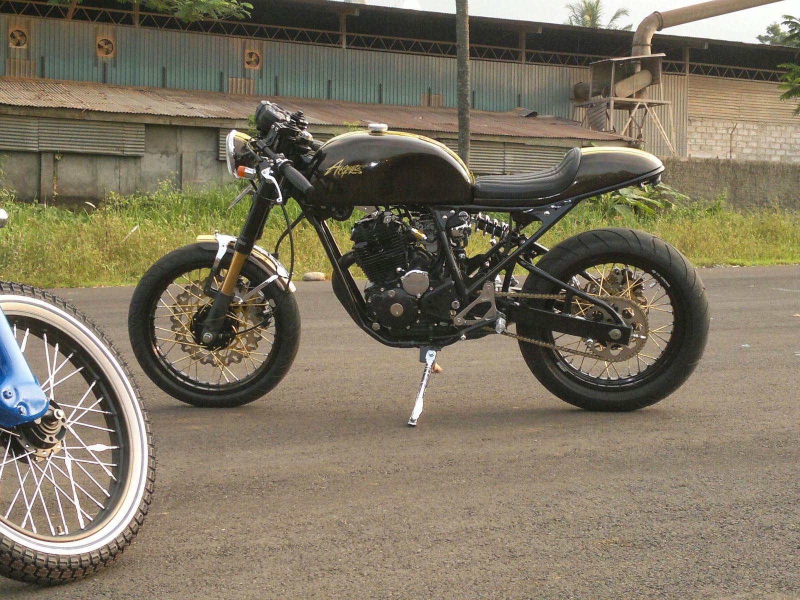Modifikasi Motor Yamaha Scorpio Gaya Cafe Racer