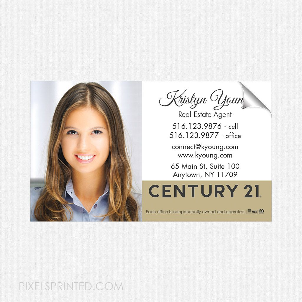 Century 21 business card sticker, Century 21 business card sticker ...