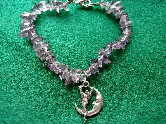 Amethyst Moon Fairy Bracelet by KazanCauldron on Etsy
