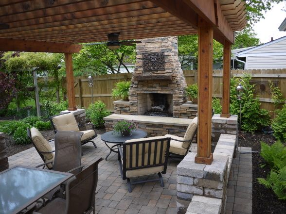 fireplace and pergola | Would love in my life | Outdoor ... on My Garden Outdoor Living id=55620