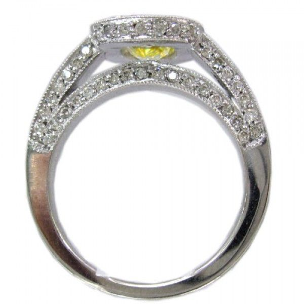Cushion Cut Engagement Rings Yellow 55