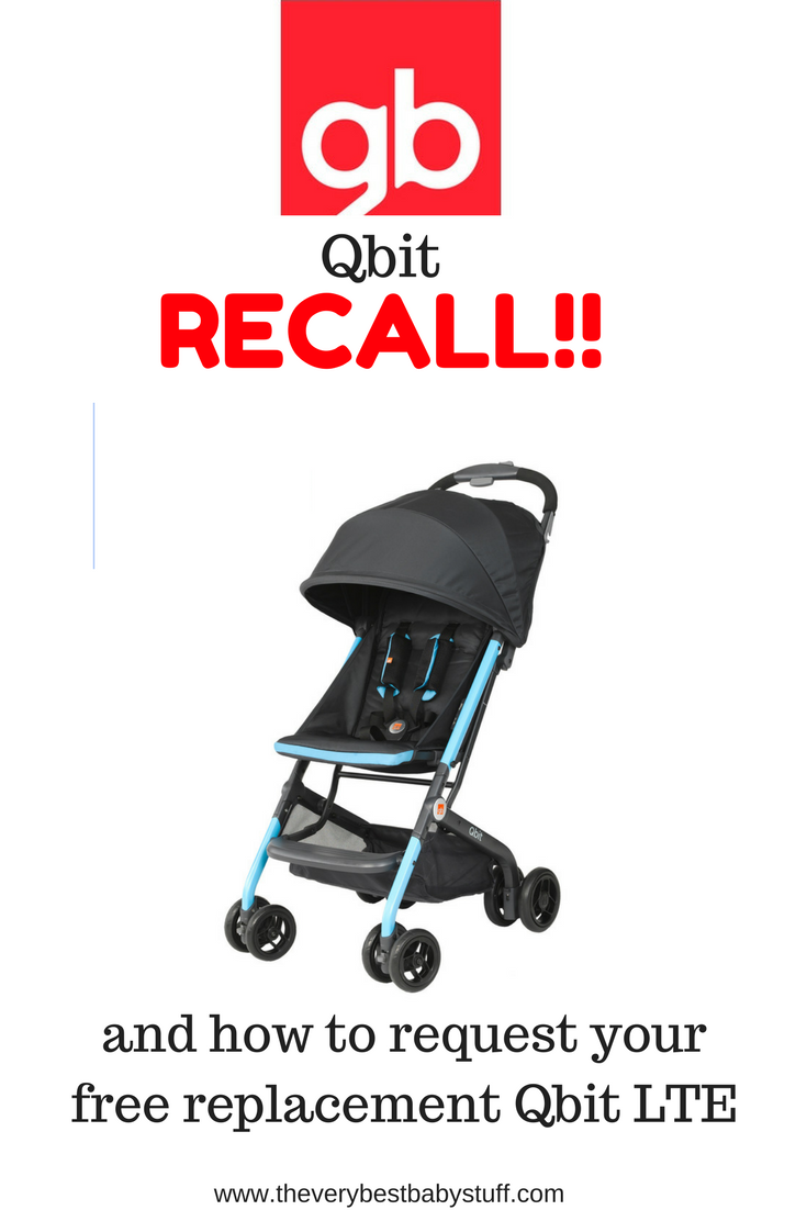 GB Qbit Stroller Recall (and how to request your