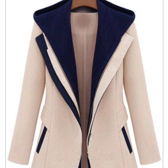 "Selling this ""Cream and Blue Blazer"" in my Poshmark closet! My username is: jessicamonae. #shopmycloset #poshmark #fashion #shopping #style #forsale #Jackets & Blazers"