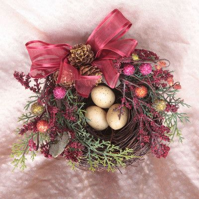 Cottage Garden Floral Christmas Nest