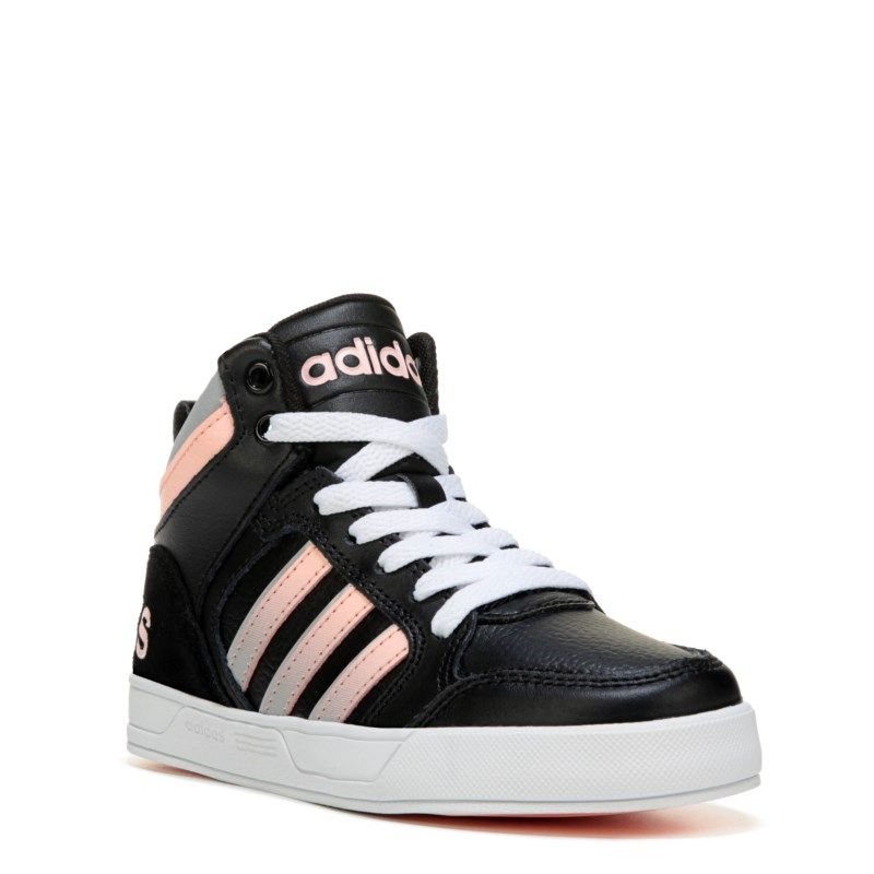 more photos ad773 37245 Adidas Kids  Neo Raleigh High Top Sneaker Pre Grade School Shoes (Black Pink)  - 5.0 M
