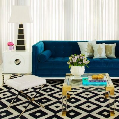 Jacques Lucite Coffee Table by Jonathan Adler features clear acrylic accented with polished ...