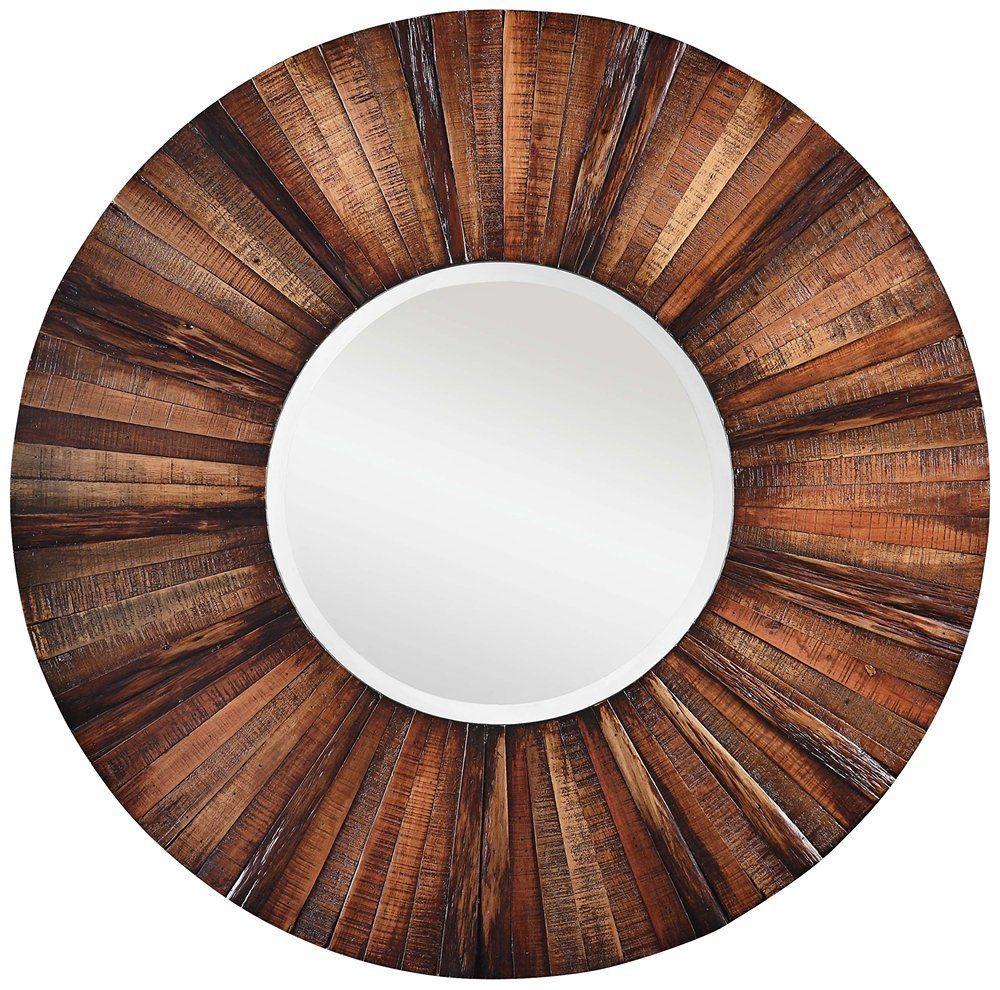 Uncategorized Wooden Round Mirrors amazon com cooper classics 4880 kona mirror wall mounted mirrors