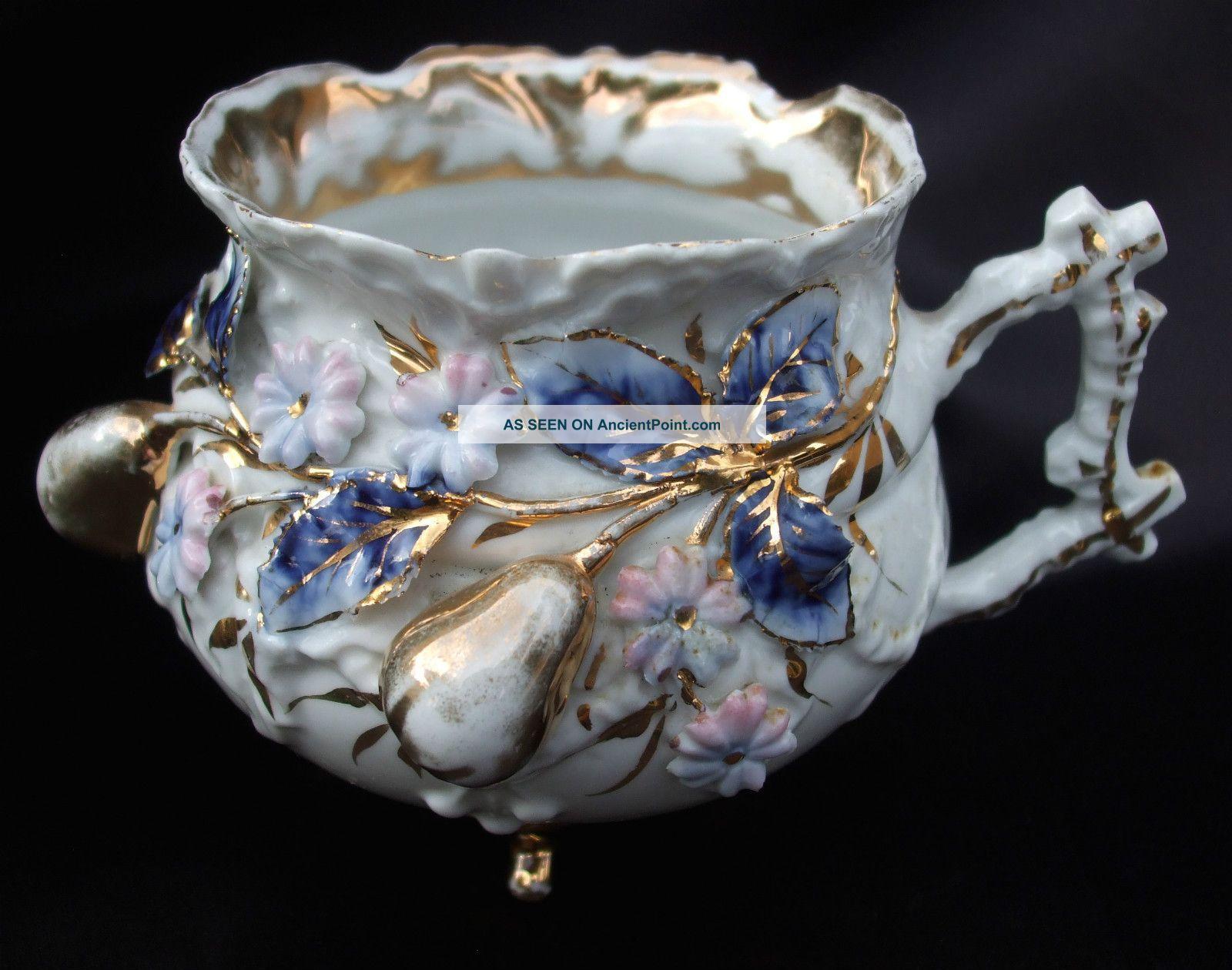 Victorianský šálek • porcelán, Dresden