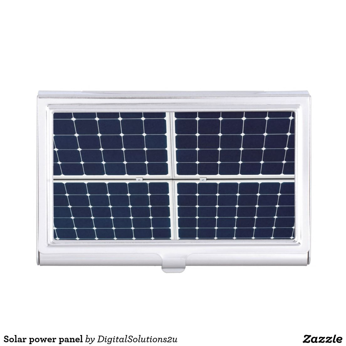 Image of a solar power panel funny case for business cards | Solar ...