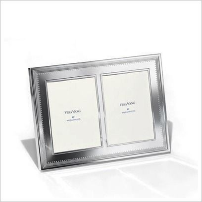 Vera Wang Grosgrain Silver Giftware Double Frame Wedgwood